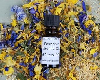 Natural Essential Oils, Hand Blended, Citrus, REVIVE BLEND No. 3