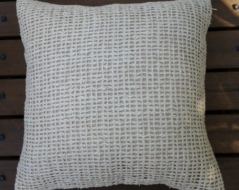 Cushion Cover Open Weave Off White 40x40