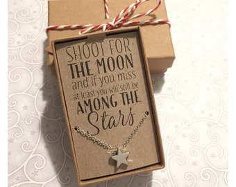 Star Necklace with Star Quote
