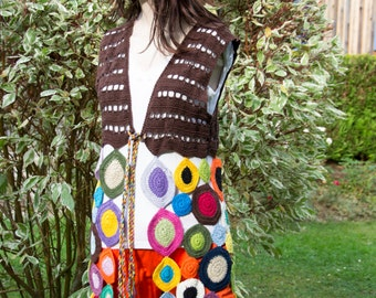 Vest in the hippie style