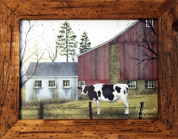 Cow Wall Decor Cow by Fence Country Decor and 2 Holstein Cow |Holstein Cow Decorations