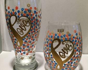 Love Confetti Glasses - Set of 2