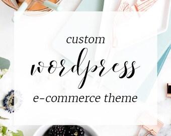 Custom WordPress E-Commerce Theme