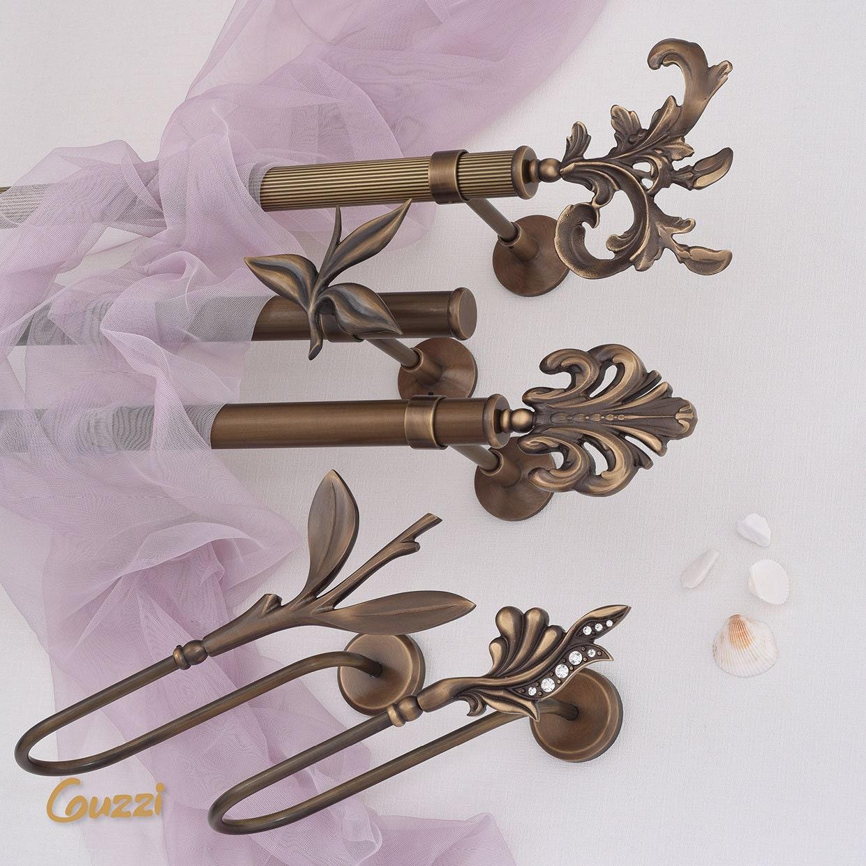 Leaf Brass Curtain Rod