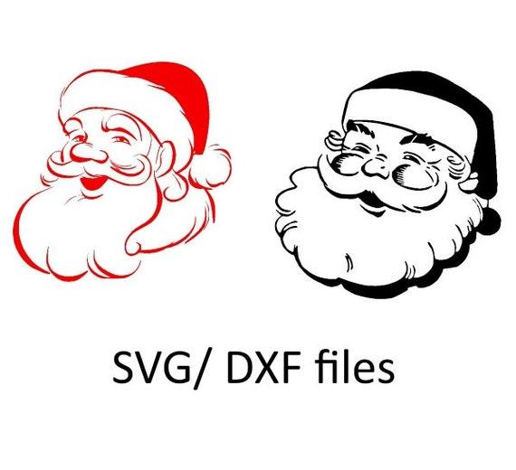 Items similar to santa claus face design, christmas svg ...