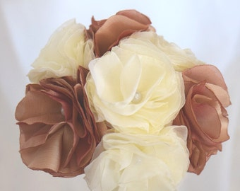 Bridal ivory original flowers bouquet fishing