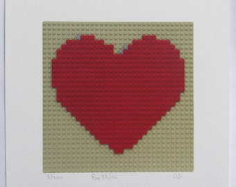 "Limited edition ""Be Mine"" signed giclee LEGO® art print"
