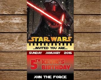 Star Wars Invitation, Star Wars Birthday Invitation - Star Wars Birthday Party Invite, Star Wars Party Printable - FREE card THANK YOU | M44