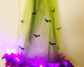 Halloween Bat Veil