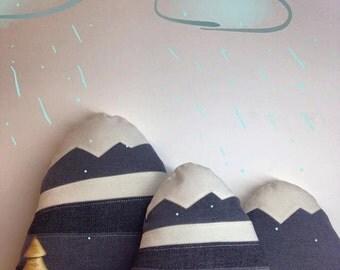 """Mountains pillows """"Dark Grey collection"""""""