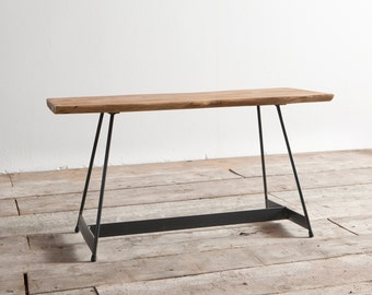 Delamont Coffee table in brushed cedar and industrial iron (H2)