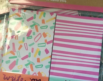 Confetti note pads!