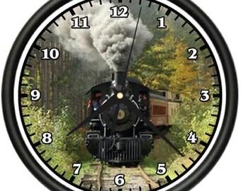Train Wall Clock Track Railroad Locamotive Model Rr
