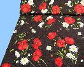 Flowers fine knit of black-multicolor (507727)