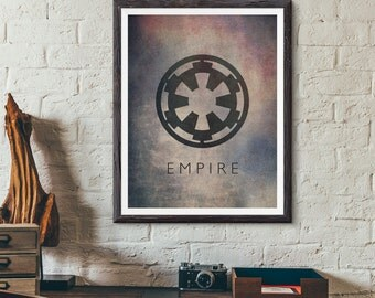 Star Wars Galactic Empire Imperial Emblem Fan Art Digital Print