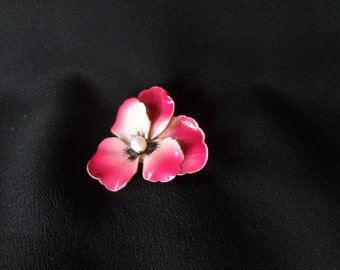 Vintage  50's Pansy Brooch