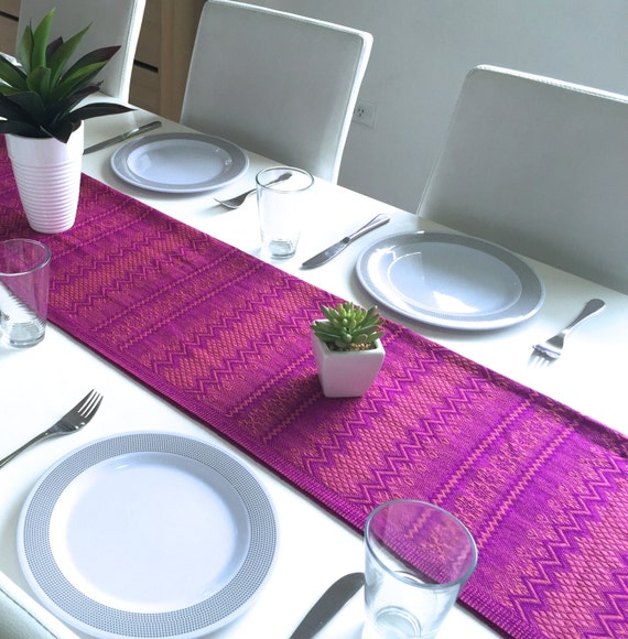 hot pink kitchen accessories zeal mat | Hot Pink Table Runner Home and Table Decor by KomirraCo on ...