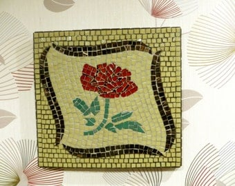 "Mosaic wall picture ""Sweet Rose"" - wall decor - mosaic picture"