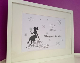 Handmade picture life is a story writer author best seller