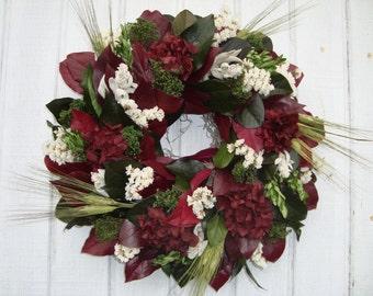 Dried Flower Wreath, Salal Wreath, Handmade Wreath, Wall Decor