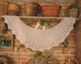 Knitting triangle shawl / Tricot triangle châle