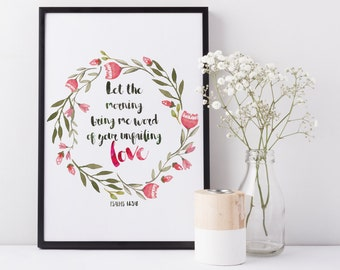 Printable Bible Verse, Printable decor, Scripture wall art, Printable gift, Inspirational quote, Motivational gift, Inspirational wall art