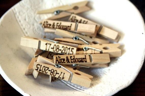 Epingles pinces pour invitations mariage ou événements cadeaux invités