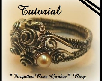 Forgotten Rose Ring Step-by Step-Tutorial Wire Wrapping Instant Download