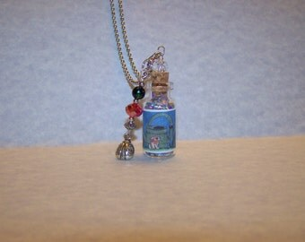Bunny /Water Can /Lady Bug Glass Bottle Necklace by Marie Logston/Marie's Imagination/Wish Upon a  Bottle