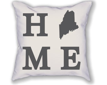 Maine Home State Pillow