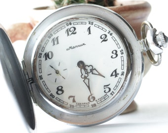 "Soviet watch.3602.Open Face.Vintage watch.Mechanical watch.Pocket Watch.Collectible.""PATRIOTIC WAR"""