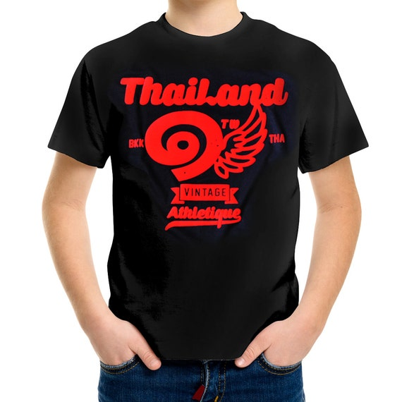 TepThaiTewa : Thailand ๑ Vintage Athletique Boys' T-Shirt