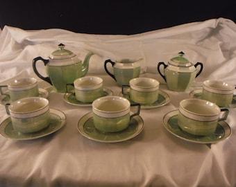 D&B Germany Porcelain Lusterware Tea Set