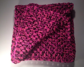 Pink and Black Baby Blanket