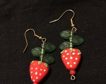 Strawberry Earrings Accessory