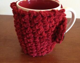 Red suede mug hug