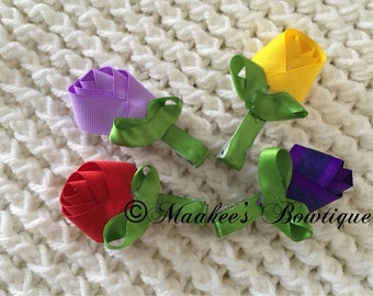 Colorful rose pins (set of 4 or 2)
