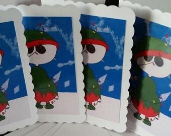 Christmas cards set 4