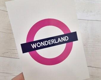 Wonderland Postcard Art Print Disney Underground