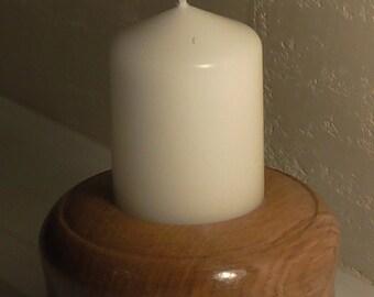 Candle holder oak wood