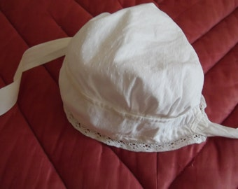 Cotton hat and lace XIX