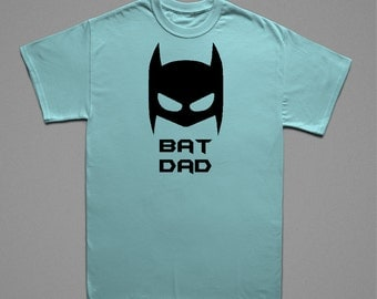 Bat Dad Shirt. A great Birthday or Father's Day gift for dads.  Batman loving dads will love this shirt!