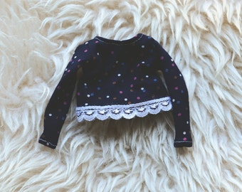 Navy blue sweater spotted - Pullip