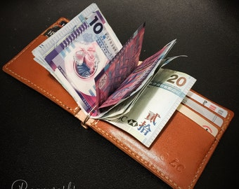 Men's Wallet / Money Clip - 100% Handmade Genuine Leather
