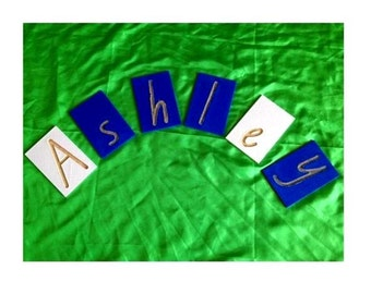 Montessori Sandpaper Letters - Your Child's Name - 3D Printed