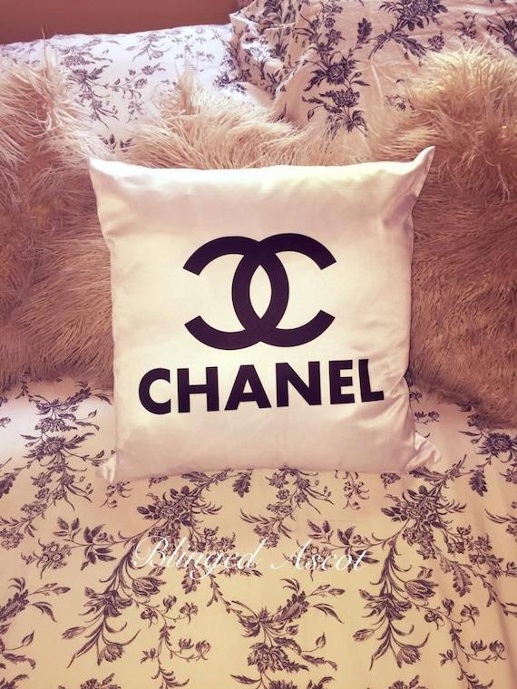 Chanel Inspired cushion by BllingedAscotLTD on Etsy