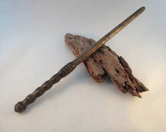 Wood turned wand