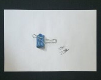 Drawing - Blue Clip
