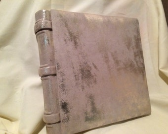 Gold and taupe suede Leather Photo Album