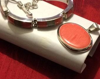925 Silver combination jewelry, Pendant, Bracelet